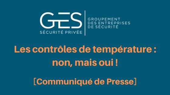 Communiqué de presse du GES